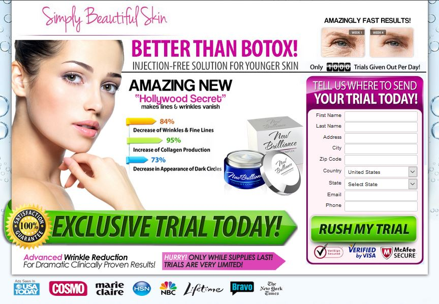 New Brilliance Anti Aging Cream Offer