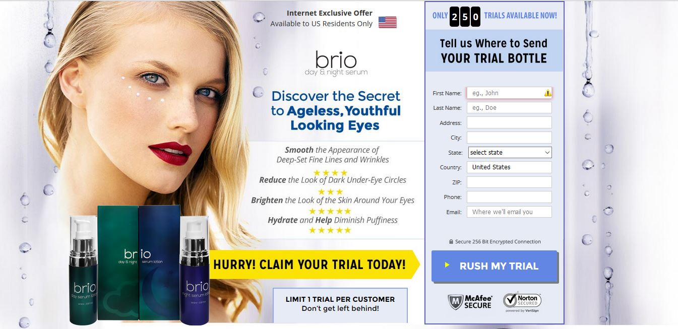 Brio Day and Night Serum Offer